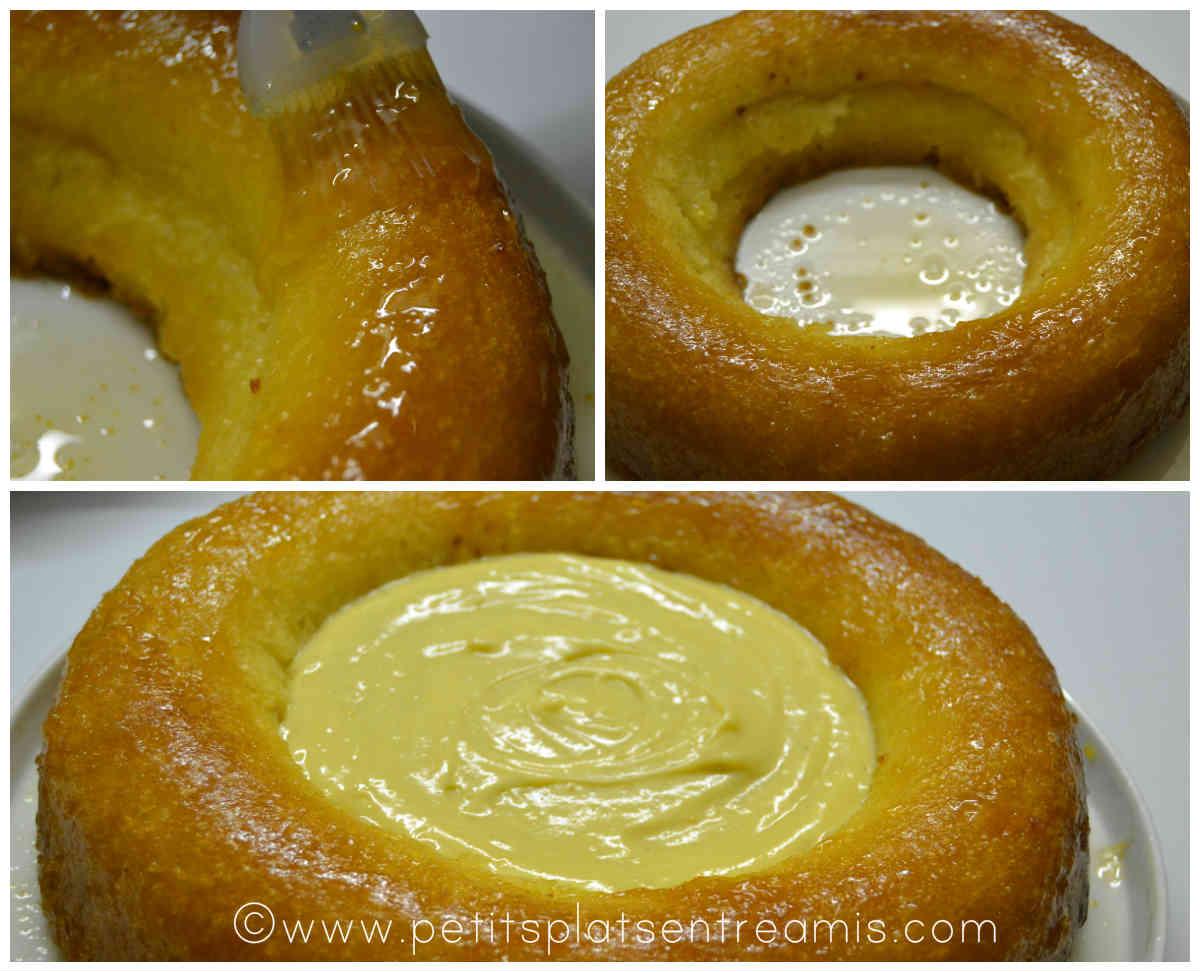 savarin à la crème pâtissière