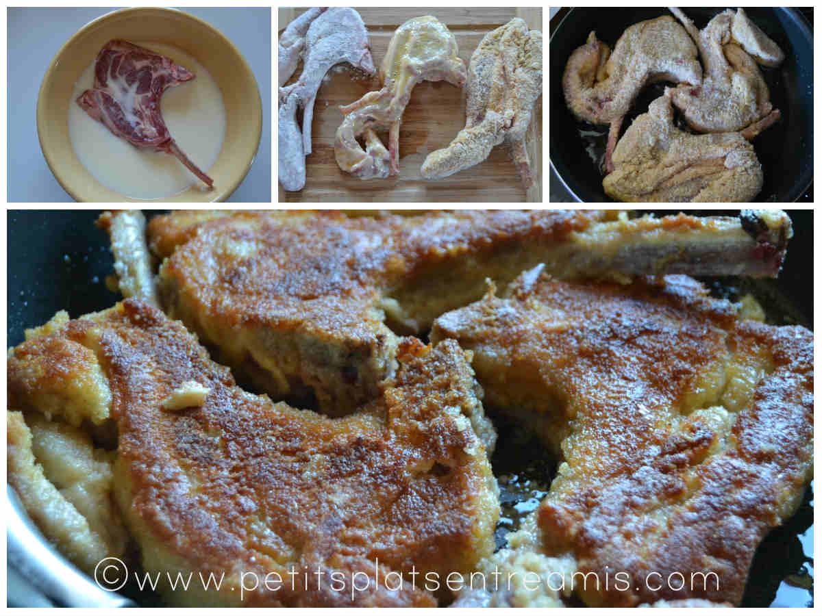 cuisson des côtes d'agneau panées