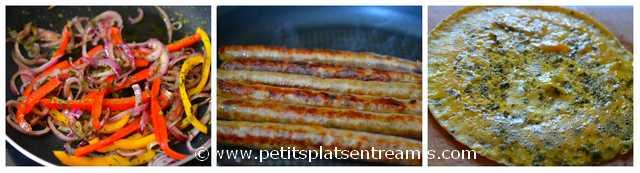 cuisson ingrédients tartine basque
