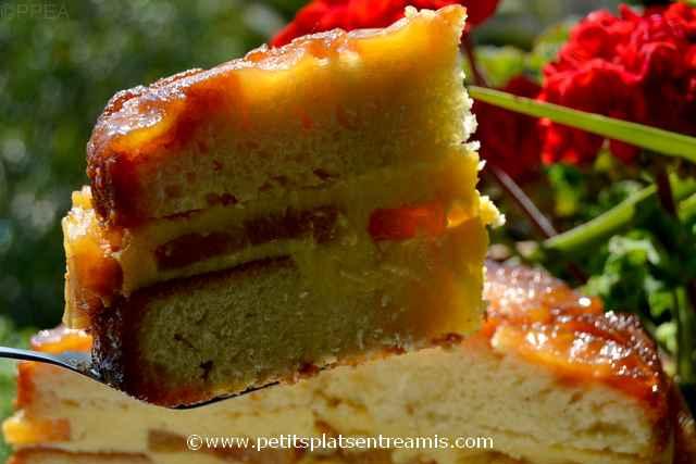 part de gâteau ananas à la crème