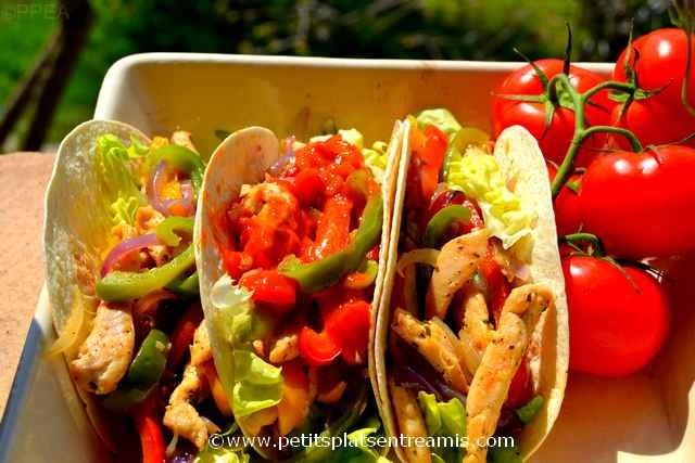 plat de tacos au poulet