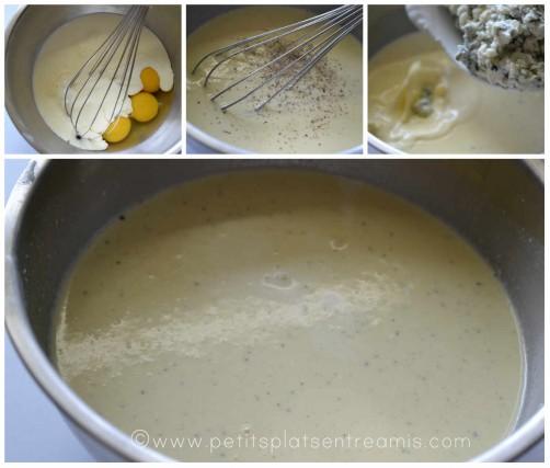 préparation crème au roquefort
