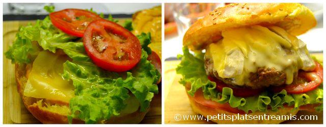 préparation hamburger au camembert