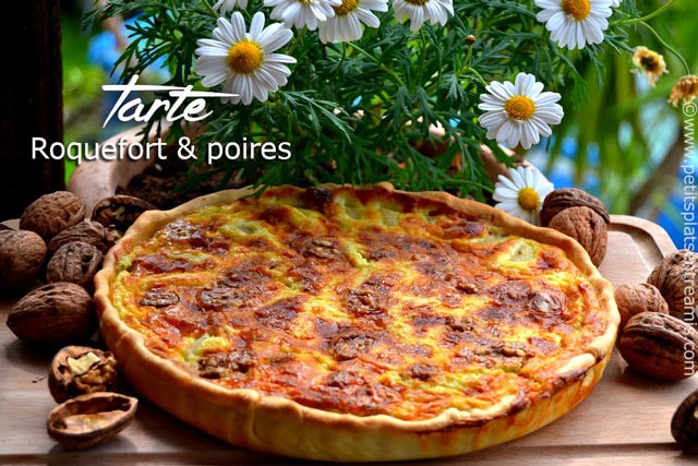 recette-tarte-poires-et-Roquefort