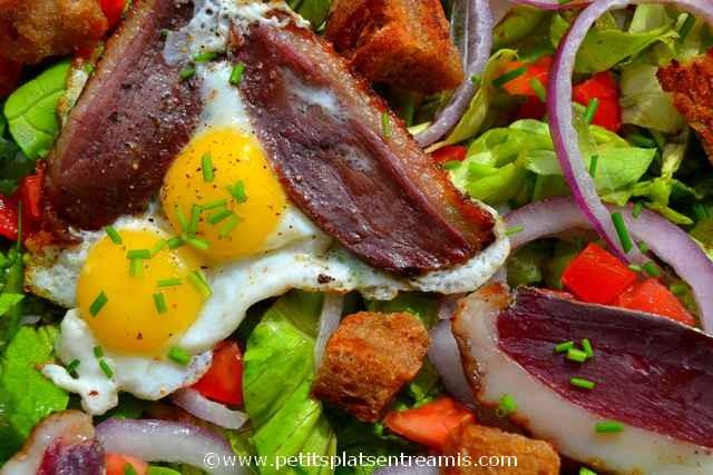 salade au magret séché à la une