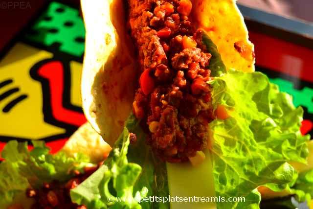 tacos au boeuf à déguster
