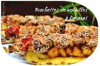 Brochettes de volailles à l'ananas