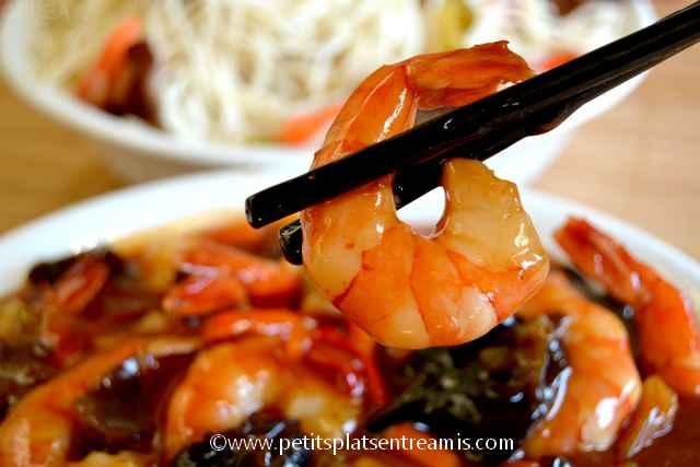 crevettes sauce aigre douce à la baguette