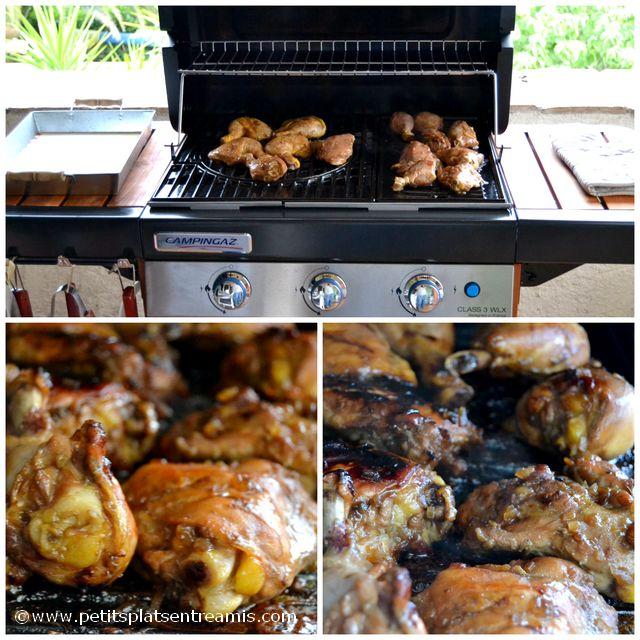 cuisson cuisses de poulet au barbecue