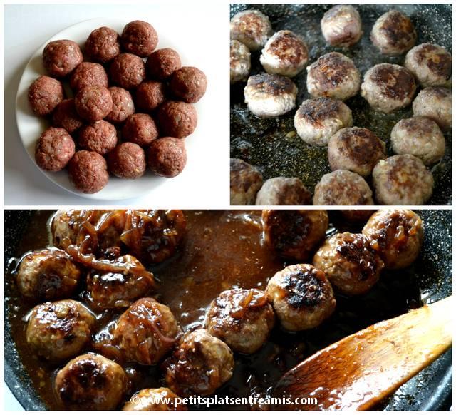 cuisson des boulettes de boeuf