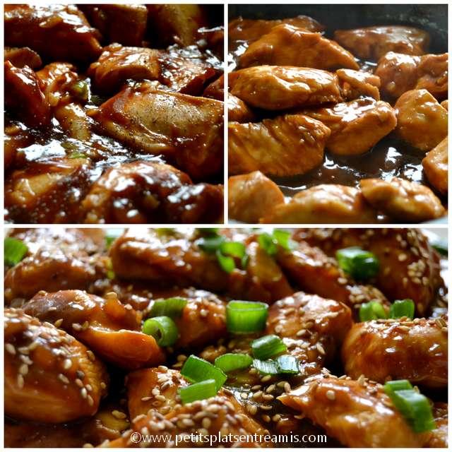 cuisson du poulet au sésame