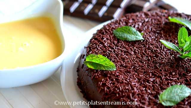 gâteau fondant au chocolat à la une