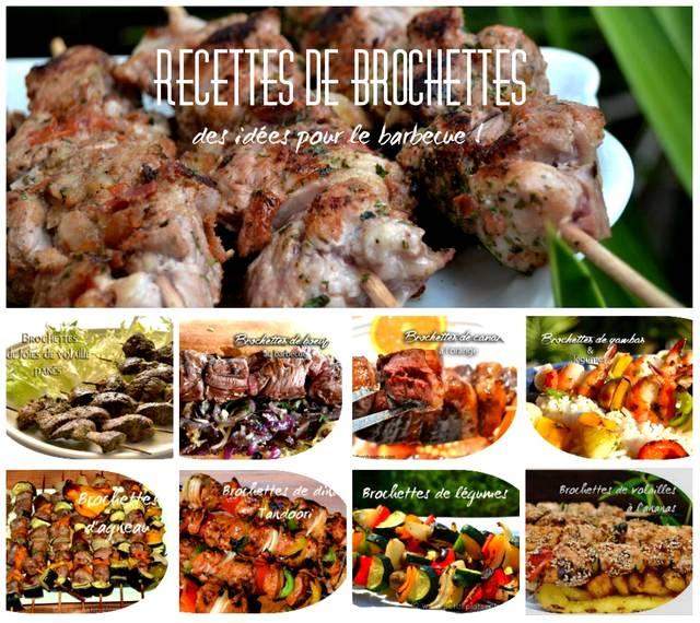 Idée Barbecue Entre Amis Recettes de brochettes, des idées pour le barbecue   Petits Plats