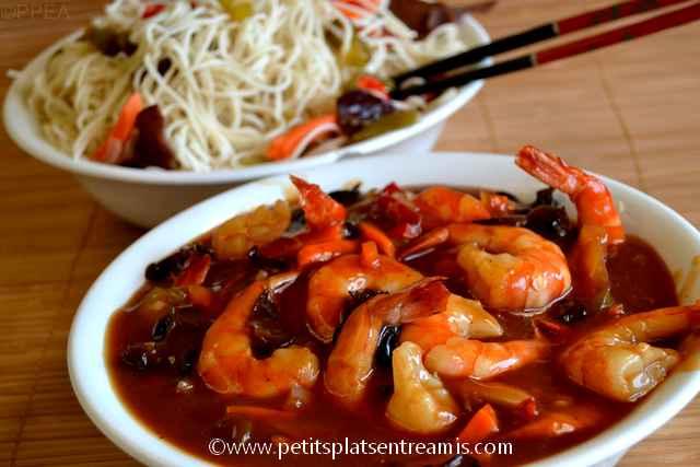 plat de crevettes sauce aigre douce