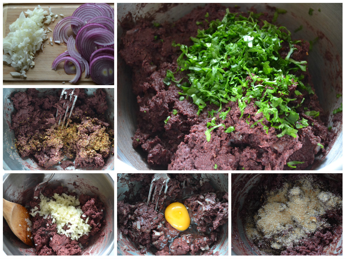 préparation boulettes de boudin noir pané