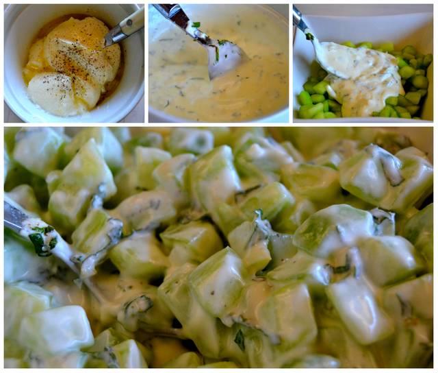 préparation concombre à la menthe
