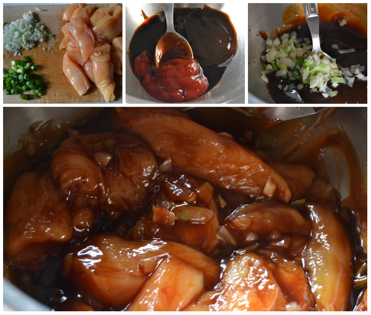 préparation poulet au sésame