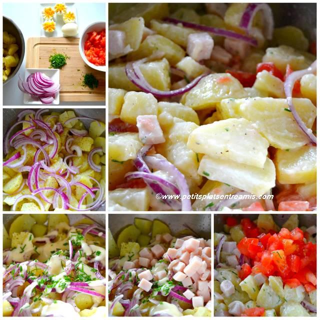 préparation salade de pommes de terre