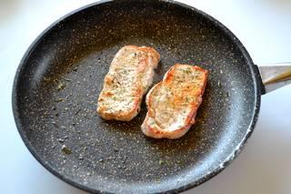 tranches de filet de porc cuites à la poêle Diamant Stone