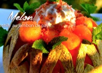 Melon chantilly au jambon de pays