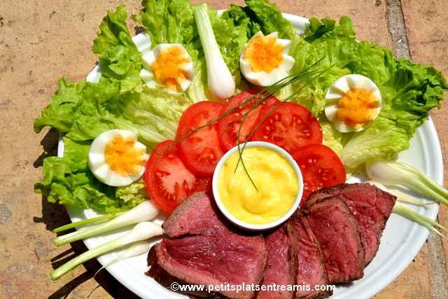 assiette de rosbif froid