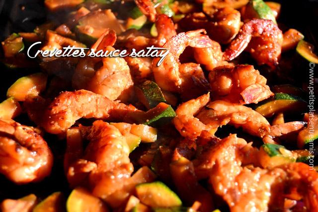 Crevettes sauce satay