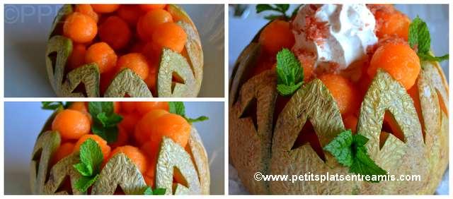 garnissage melon chantilly au jambon