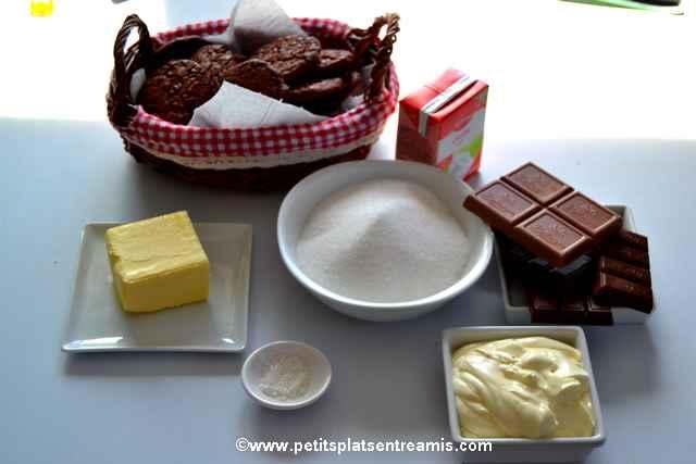 ingrédients pour tarte-au-chocolat-et-caramel-au-beurre-salé