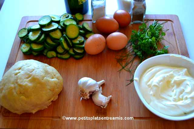 ingrédients tarte aux courgettes