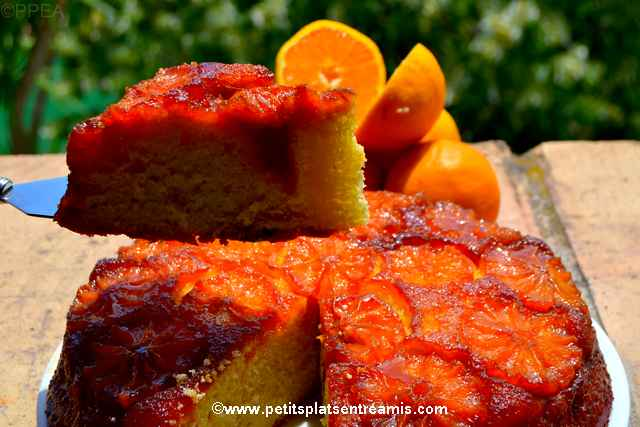 part de gâteau à l'orange