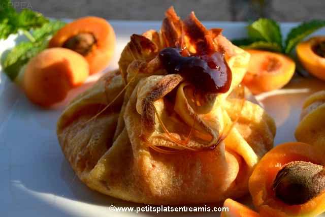 recette abricots en aumônière
