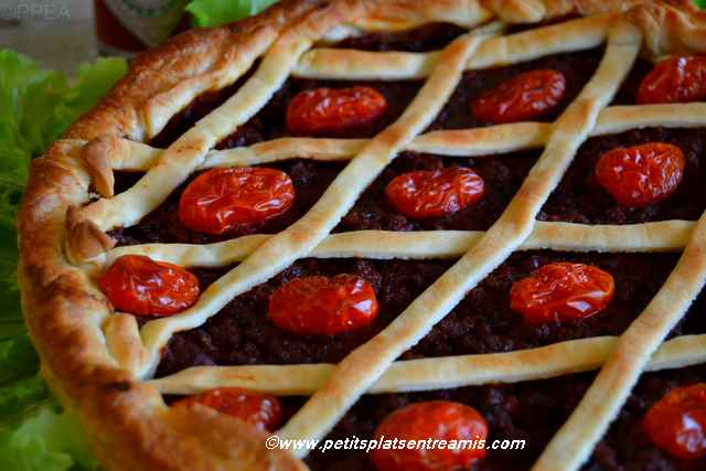 tarte au boeuf et tomate recette