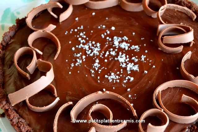 tarte-au-chocolat-et-caramel-au-beurre-salé recette