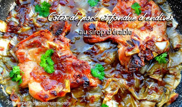 Côtes-de-porc-et-fondue-d'endives-au-sirop-d'érable