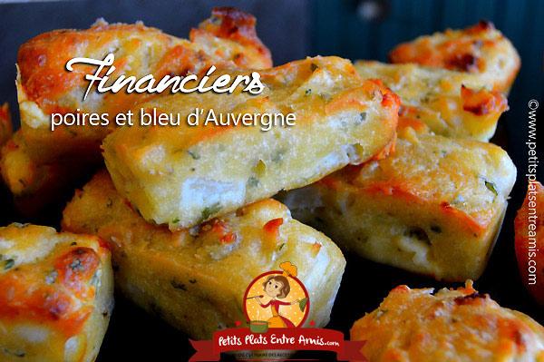 Financiers aux poires et bleu d'Auvergne