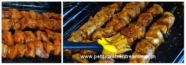 cuisson brochettes poulet sauce cajun