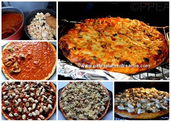 cuisson pizza au poulet
