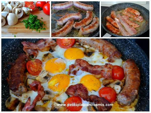 cuisson saucisse au comté et bacon