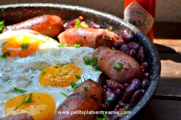 idée brunch huevos-rancheros