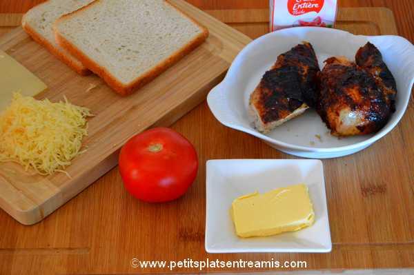 ingrédients croque poulet
