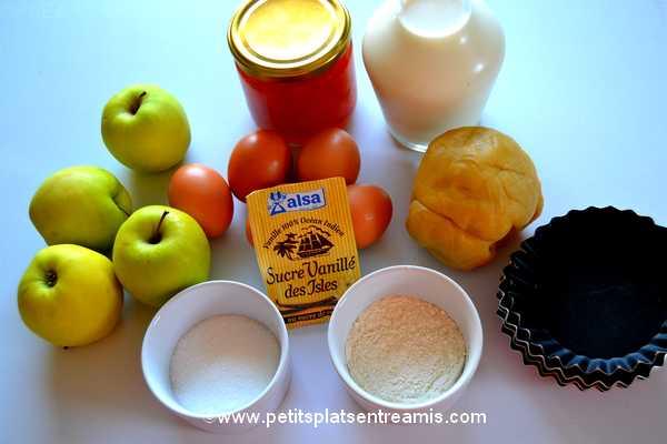 ingrédients pour tartelettes aux pommes