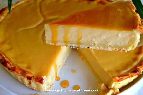 part de tarte à la crème au sirop d'érable