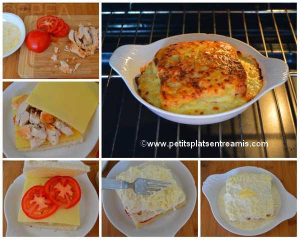 préparation croque-poulet