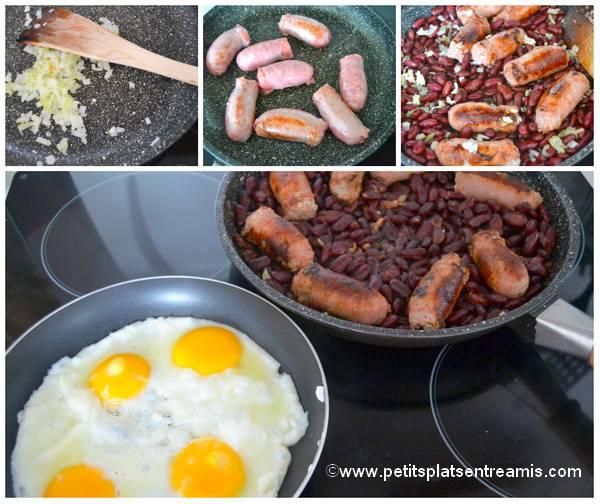 préparation huevos rancheros
