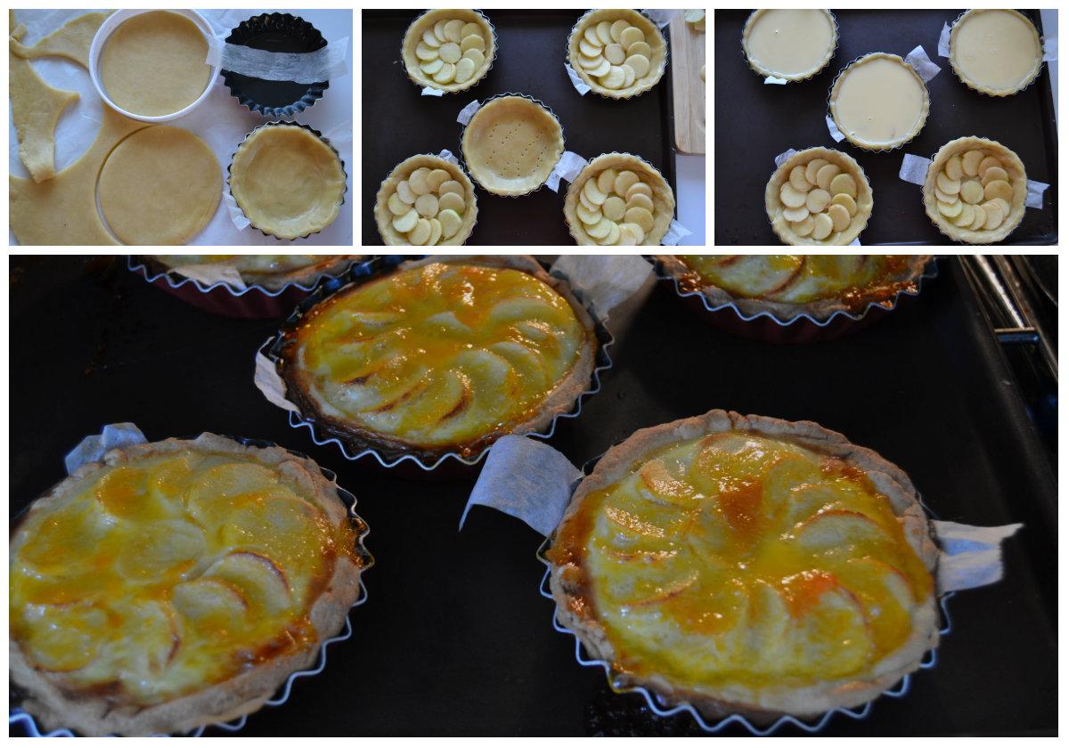 préparation tartelettes aux pommes