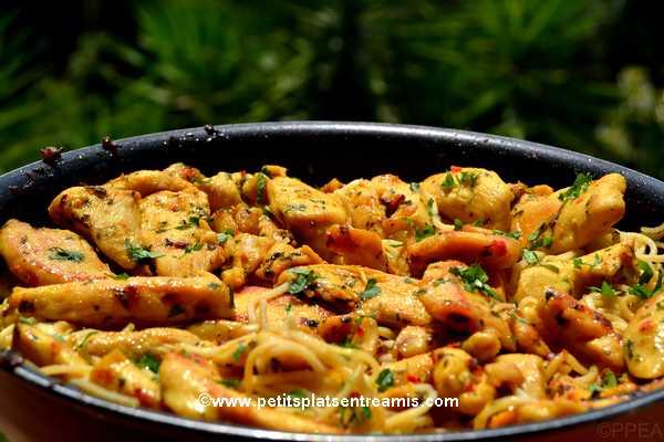 recette Emincés de volaille sauce Thaï