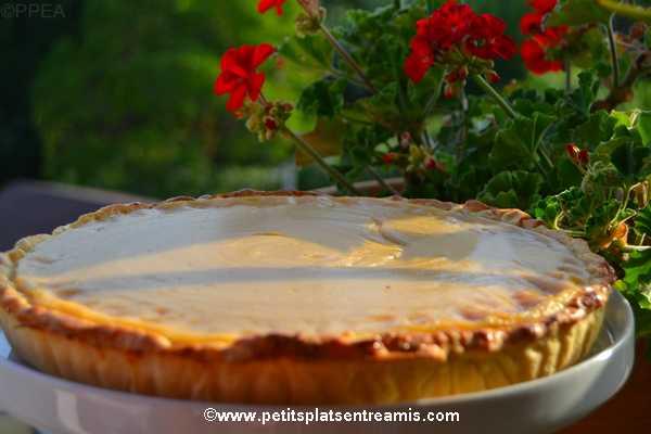 recette tarte à la crème au sirop d'érable