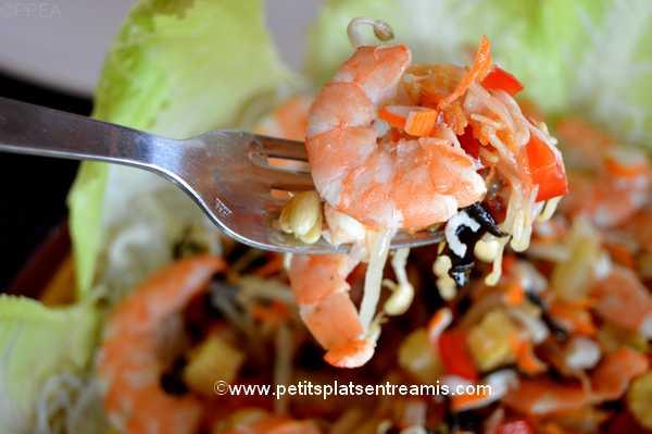 bouchée de salade-de-soja-et-crevettes