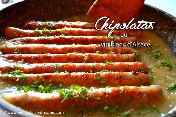 chipolatas-au-vin-blanc-d'Alsace