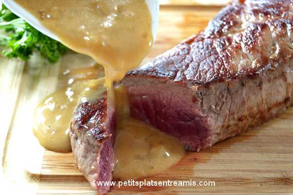 découpe faux-filet sauce moutarde